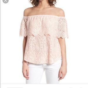 BP Off the Shoulder Lace Blouse